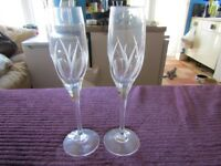 CHAMPAGNE FLUTES. BOUGHT FROM DEBENHAMS. Lovely quality