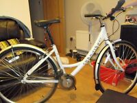 Ladies - Womens Uni Adventure Hybrid Bike in white