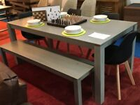 Asha Dining Table,Bench C/w 4 chairs