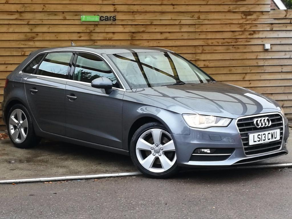 Audi A3 1 8 Tfsi Sport 5dr S Tronic Sat Nav Leather Monsoon Grey Pearlescent 2013 In
