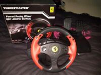 Ferrari racing wheel comes with box only been used 3 times