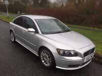 VOLVO S40 1.8 SE SPORT 54 REG IN SILVER WITH BLACK LEATHER AND PRIVATE PLATE S40 TWB. 07867955762