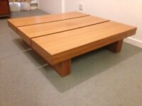 Dwell Coffee Table Square Wood Table Beech Veneer Solid and Well Made Coffee Table.Cost £349 CONRAN