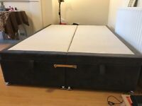 Ottoman central open welvet cloth Double bed