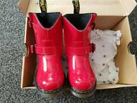 Dr Martin Jiffy Patent Red Toddler Boot Size 8