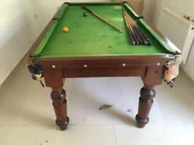 Vintage Slate bed pool table / snooker table