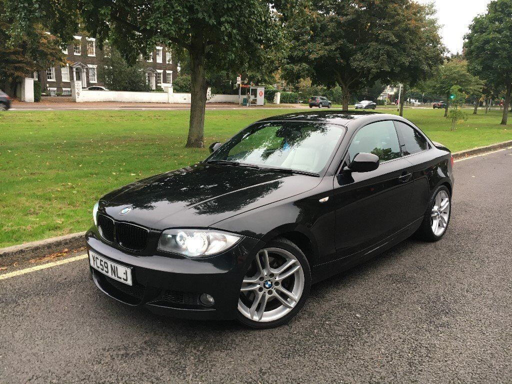 2009 59 bmw 123d m sport twin power turbo automatic e82 coupe saphire black in. Black Bedroom Furniture Sets. Home Design Ideas