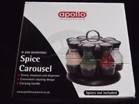 'Apollo' 8 Jar rotating Spice Carousel - NEW/BOXED