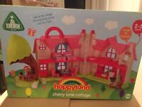 BNIB ELC Happyland Cherry Lane Cottage With Accessories, new in box RRP £60 (can deliver locally)
