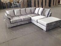 Crush corner sofa brand new