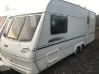 Lunar delta/520/2berth 18ft 2002 twin axle full awning px welcome