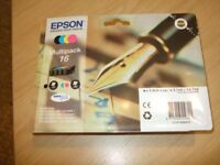 1 Epson Original Product Multipack 16 also Compatible Epson 16 Cartridge's