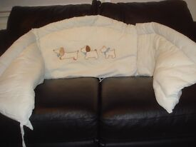 large and soft cot bumper
