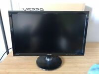 "2 x Asus 21.5"" Full HD Monitors and VonHaus Monitor Desk Stand"