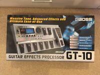 Boss GT-10 Guitar Multi-Effects FX Pedal board – MINT