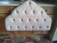 Cushioned headboard, pale pink (single bed) FREE