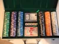 300pc Texas Hold'em Poker Chip Set