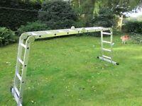 Articulated Ladder (Aluminium, Multi Purpose, 4 x 4 rungs).