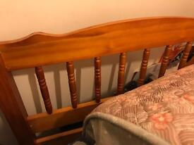 Used Single wooden bed good condition