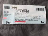 1 Arctic Monkeys ticket Seated @ Sheffield FlyDSA Arena - Sat 22nd September