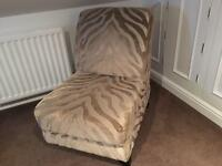 DFS Animal print Accent Chair
