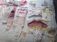 Huge Bundle of baby girls clothes 0-3 months