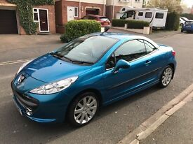 PEUGEOT 207 CC GT 1.6 VTi 120 - Coupe Cabriolet, Neysha Blue, Petrol 5 speed, regd. April 2008