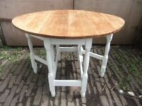 Restored solid oak dining table