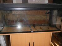 FISH AQUARIUM and Cupboard