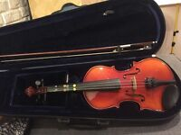 PURPLE TURTLE MUSIC CHILD STUDENT 1/4 VIOLIN IN CASE & BOW