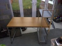 Student Desk with integrated book shelves