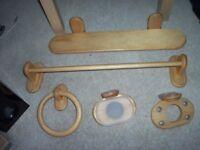 5 piece pine bathroom set including fixings(unused)