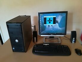 preinstalled and ready for use desktop pc