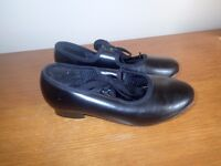 Girls black tap shoes size 12.