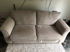 Cool Grey Three Seater Lounge Sofa