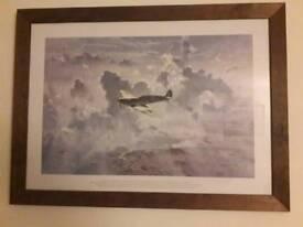 Spitfire framed print