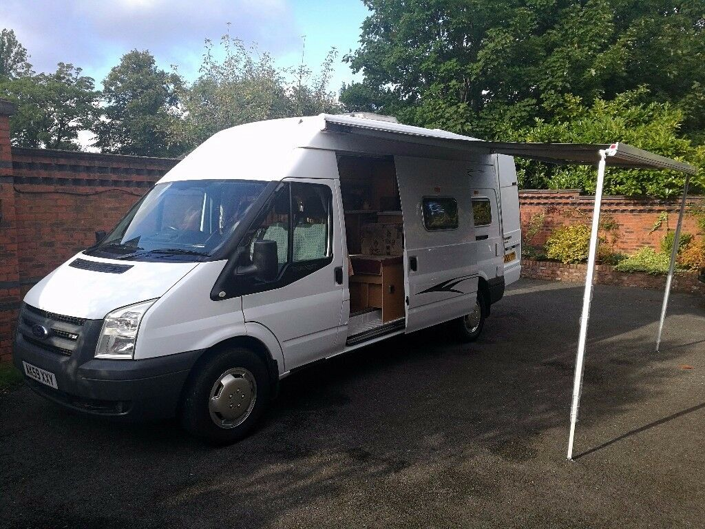 Newly converted ford transit 2 4td motorhome for sale with full service history