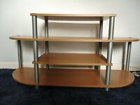 4 Tier Pine Effect MDF TV / Television Stand / Unit £18 OVNO