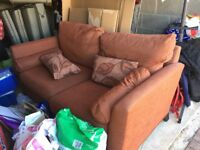 2 seater sofa with matching cushions