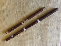 Baroque wooden flute with corps de recharge
