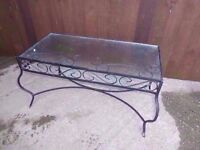 Glass Coffee Table Top with Metal Frame Delivery Available £7.50