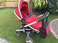 Silver Cross Surf:- fully reversible pushchair, carrycot & changing bag