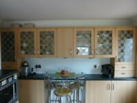 Glass door Kitchen Wall Units