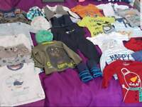 Large bundle of boys clothes 12 - 18 months - 28 items