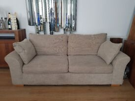 For Sale!! NEXT Cream Coloured Couch And Snuggle Chair.
