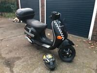 Piaggio vespa et2 70cc reg as 50cc moped scooter honda piaggio yamaha