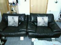 A3 Black leather chairs for