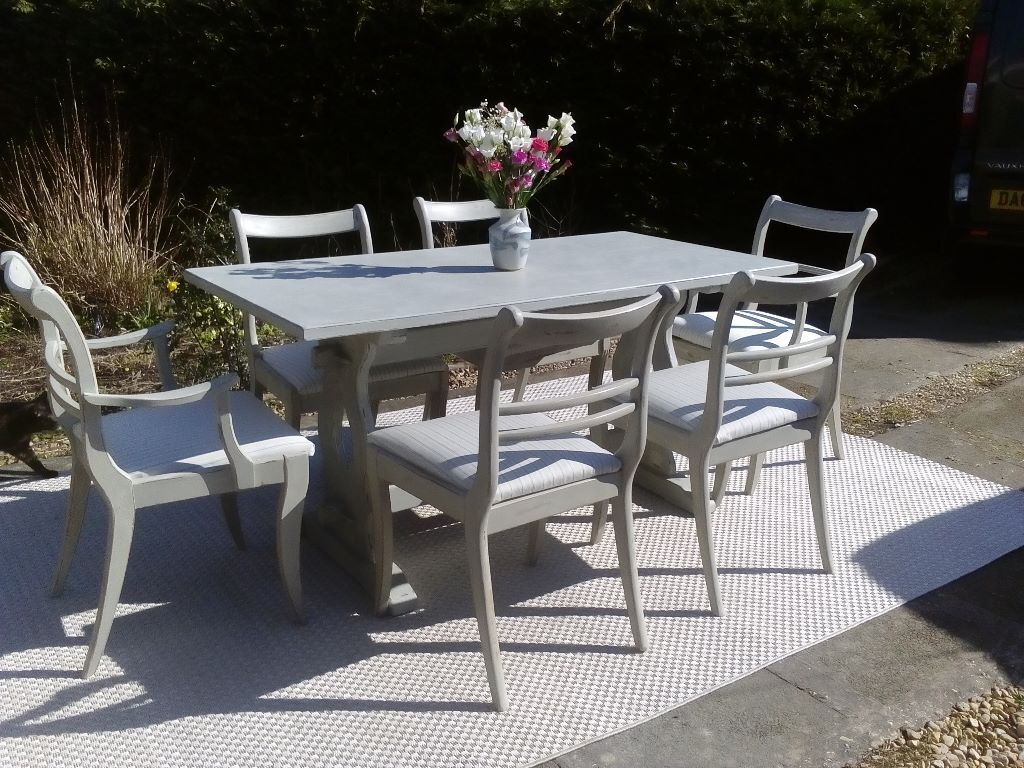 Stunning Vintage Oak Dining Table and 6 Newly Upholstered  : 86 from www.gumtree.com size 1024 x 768 jpeg 162kB