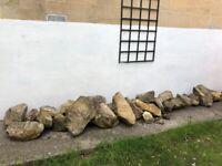 Rocks (stones) for garden rockery