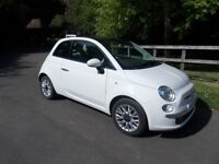 FIAT 500 1.2L LOUNGE VERY LOW MILEAGE IN BEAUTIFUL CONDITION